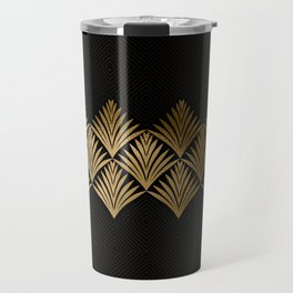 Reims, France: Luxueux Black and Gold Art Deco Travel Mug