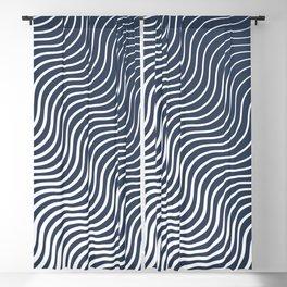 Whisker Pattern - Navy #583 Blackout Curtain