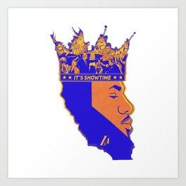 Face La Bron King James Lake Art Print