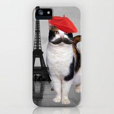French Cat in Paris iPhone (5, 5s) Slim Case