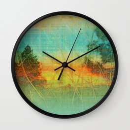 Colorful Trees Wall Clock