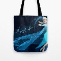 frozen elsa Tote Bags featuring Elsa | Frozen by EcaJT
