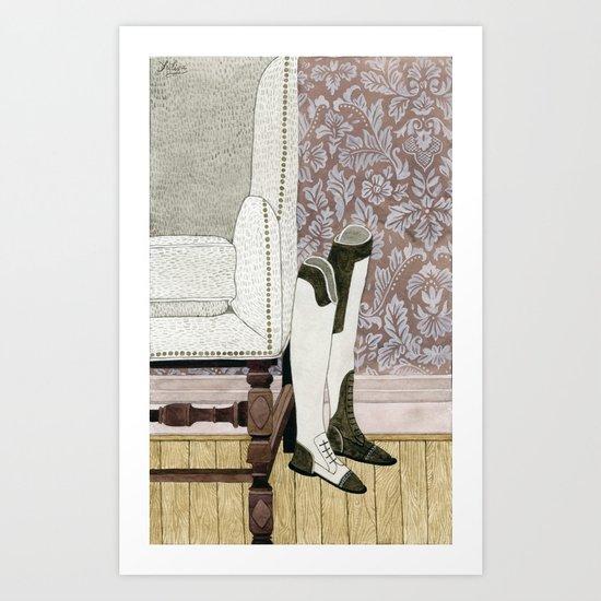 Equestrian Boots Art Print