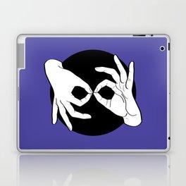 Sign Language (ASL) Interpreter – White on Black 02 Laptop & iPad Skin