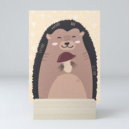 Autumn Hedgehog Mini Art Print