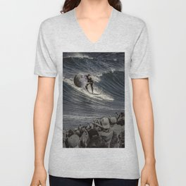 Steal the moon Unisex V-Neck