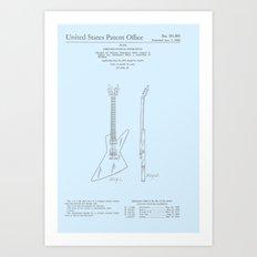 Gibson Explorer Patent Art Print
