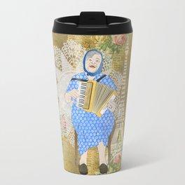 Woman Playing the Accordion Travel Mug
