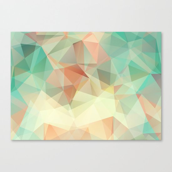 Polygon picture. Oasis in the desert. Canvas Print