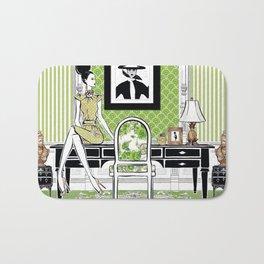 Fashion illustration Cosmopolitan Bath Mat