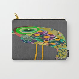 little green eyed boho bird Carry-All Pouch