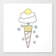 Ice cream snow Canvas Print