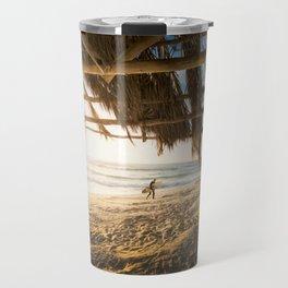 Golden Sun Srufer Guy (Color) Travel Mug