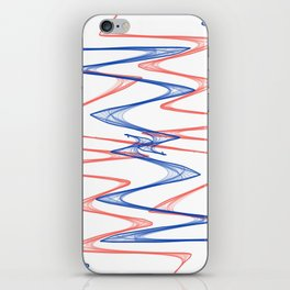 Red, White & Blue iPhone Skin