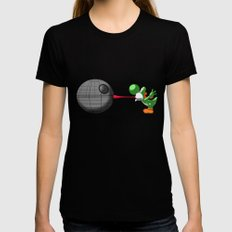 Yoshi eats the DS Black Womens Fitted Tee X-LARGE