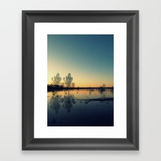 We Met in the Stillness of Twilight Framed Art Print