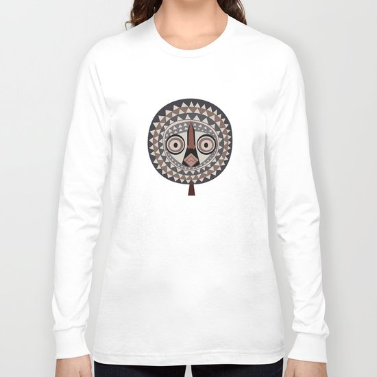 African Tribal Mask No. 2 Long Sleeve T-shirt