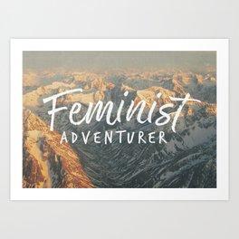 Feminist Adventurer Art Print