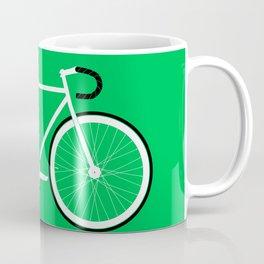 Green Fixed Gear Road Bike Coffee Mug