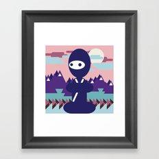 teenja ninja  Framed Art Print