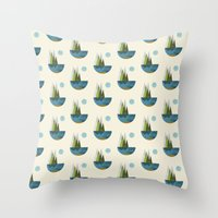earth Throw Pillows featuring Earth by FLATOWL