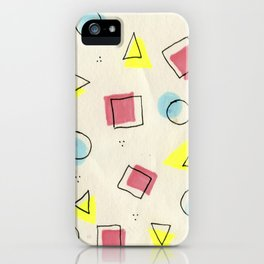 pastel shapes iPhone Case