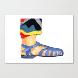 Summer sandals Canvas Print
