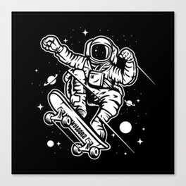skate-space-t-shirt Canvas Print