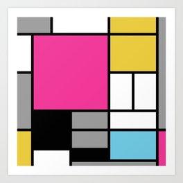 Summer Mondrian Art Print