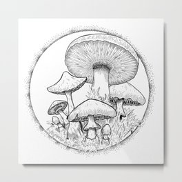 Mushroom Party Metal Print