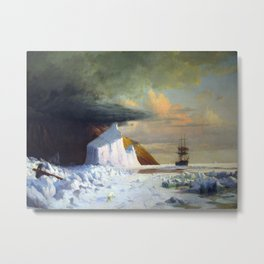 William Bradford Arctic Summer Metal Print