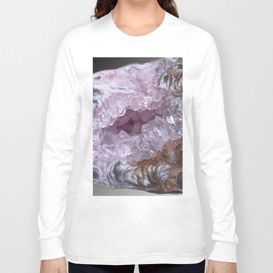 Amethyst Geode Long Sleeve T-shirt