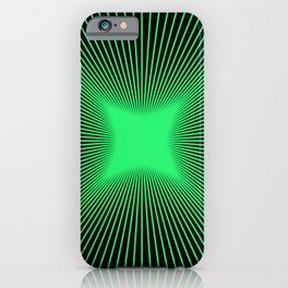 The Emerald Illusion iPhone Case