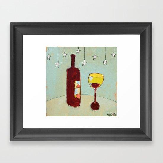 Evening Wine Framed Art Print