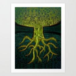 Tree Town - ROOTS Art Print