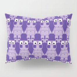Super cute cartoon purple pig - bring home the bacon with everything for the pig enthusiasts! Pillow Sham