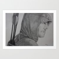 green arrow Art Prints featuring Arrow by Brooke Shane