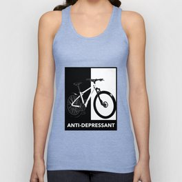 Cycling Shirt Biking Badge Depression Recovery Short Quotes Sucks Survivor Unisex Tank Top
