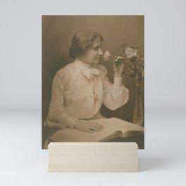 Helen Keller Vintage Photo, 1904 Mini Art Print