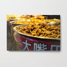 Street Food Metal Print