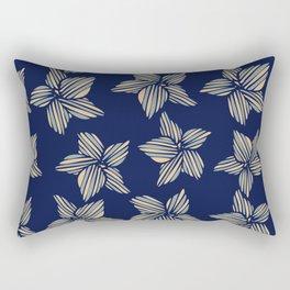 Blue tone flowers Rectangular Pillow