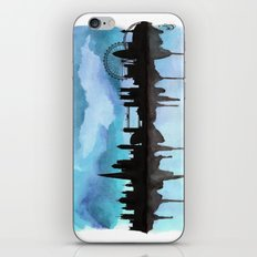 Turquoise London Skyline 2 iPhone & iPod Skin