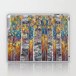 Colourful Autumn Aspen Trees Laptop & iPad Skin