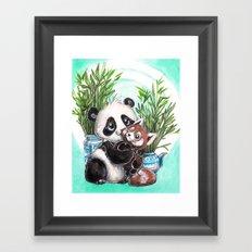 Panda red panda Framed Art Print