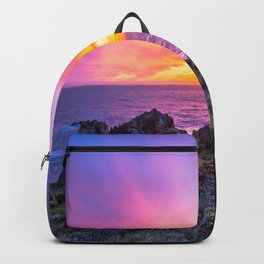 California Dreaming - Brilliant Sunset in Big Sur Backpack