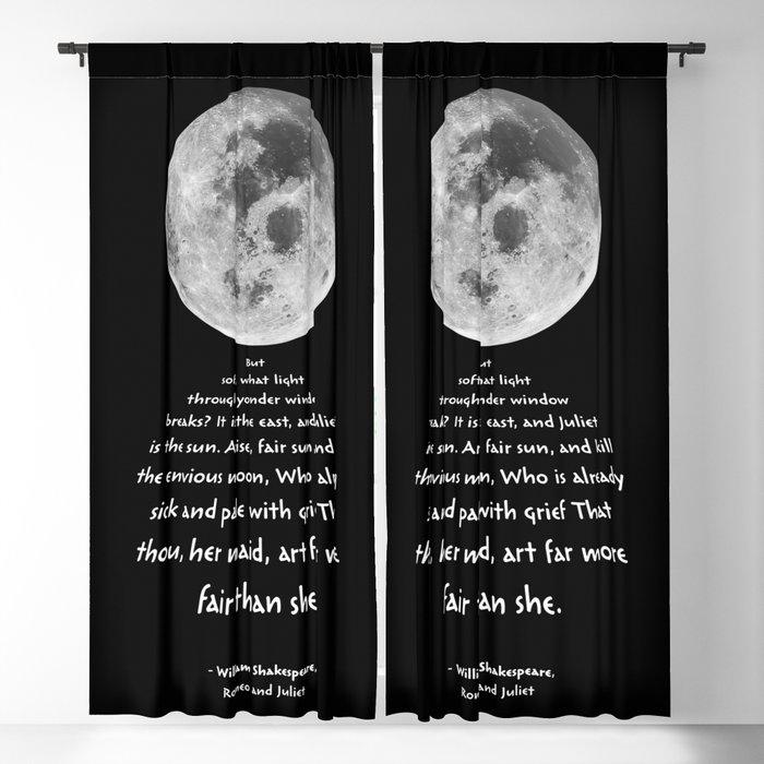 Moon Bridge Shakespeare Blackout Curtain