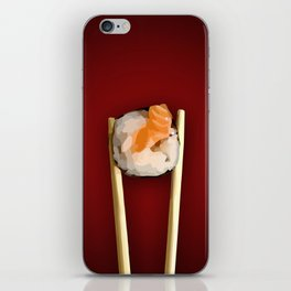 Sushi in red iPhone Skin