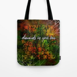 Diamonds In Your Hair (Illuminae) Tote Bag