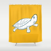 turtle Shower Curtains featuring Turtle by Josè Sala