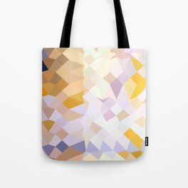 Hansa Yellow Abstract Low Polygon Background Tote Bag